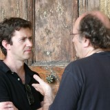 With Philippe Hurel, Villa Medici, Rome, March 2003